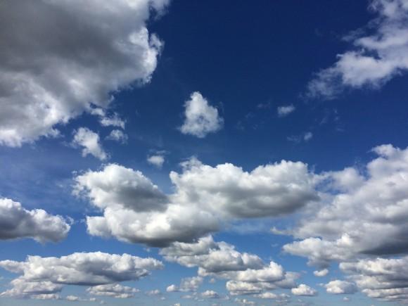 geen wolkje aan mijn lucht